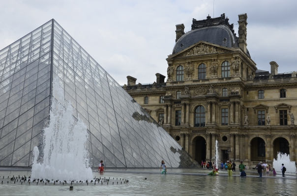 Glass pyramid made famous by Da Vinci Code