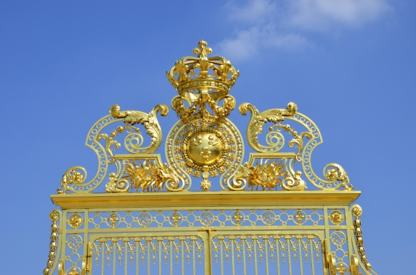 Gold encrusted royal entrance to palace