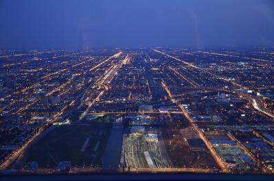 Optical energy flowing through city