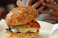 Vegan portobello mushroom burger
